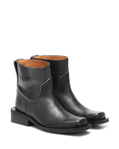 Low MC leather ankle boots