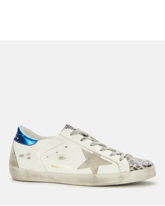 Women's Superstar Leather Trainers - White/Silver/Multi Leopard