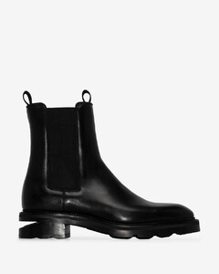 black Andy leather Chelsea boots