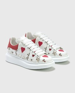 Oversized Sneakers With Heart Print