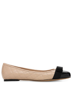 10mm Varina Quilted Leather Ballerinas