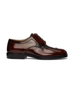 棕色Tabi系带德比鞋