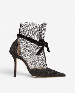 Fira 100 mesh overlay suede courts