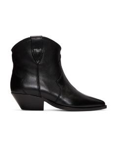黑色Dewina踝靴