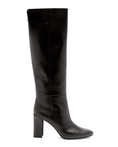 Elements mirror-heel leather knee-high boots