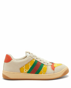 Screener Web-stripe GG-jacquard leather trainers