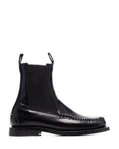 Women's V-10 Leather Trainers - Extra White/Camel
