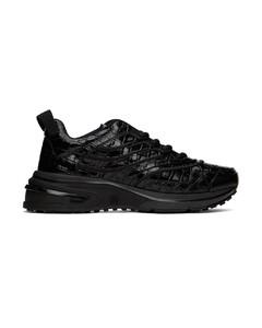 黑色GIV 1鳄鱼纹运动鞋