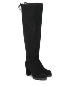 Zoella 95绒面革过膝靴