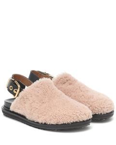 Fussbett羊毛皮便鞋