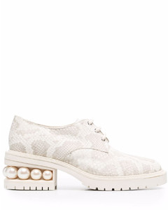 Gancini embroidered sneakers