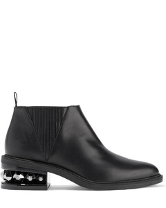Woman Suzi Studded Leather Ankle Boots