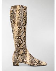 Edie snakeskin print boots