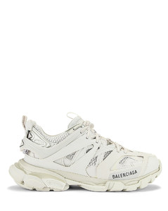 Track Sneakers in White