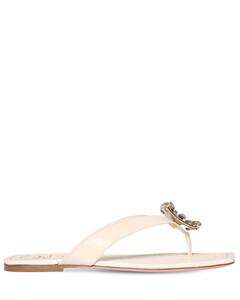 10mm Mini Rvbroche Leather Thong Sandals