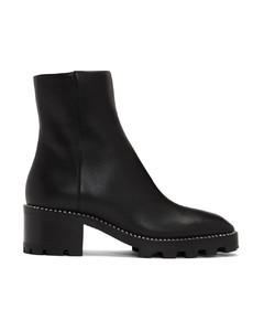 黑色Mava水钻踝靴