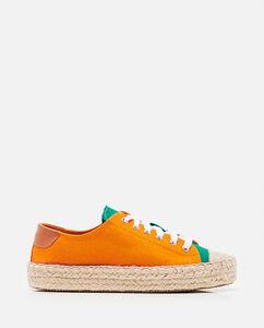 Color block espadrille sneakers