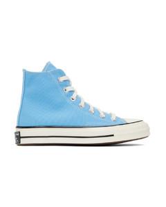 蓝色Chuck 70高帮运动鞋