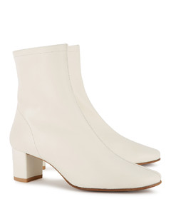Sofia 65 off-white leather ankle boots