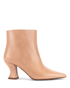 Leather Ankle Boots in Neutral