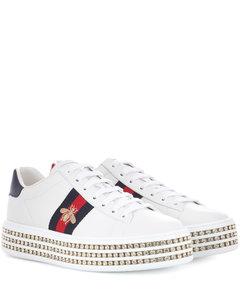 Ace厚底皮革运动鞋