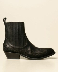 Santiago ankle boots in leather and suede