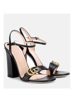 Marmont綴飾皮革涼鞋