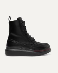 皮革厚底踝靴