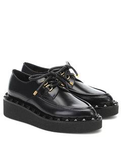 Gravani Rockstud皮革鞋履
