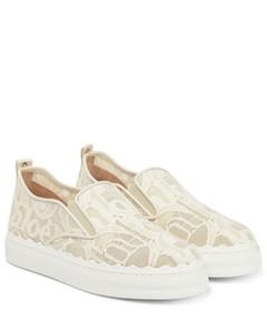 Lauren蕾丝运动鞋
