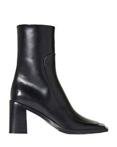 Portofino 105 black leather sandal