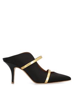 Women's Patent Leather Flatform Boots - Black