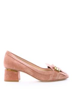 DécolletéSuede Leather Pink