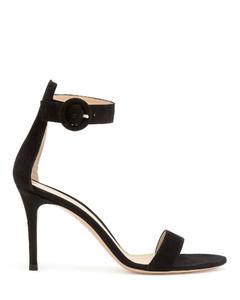 Portofino 85 black suede sandals