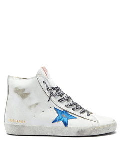 Francy high-top leather trainers