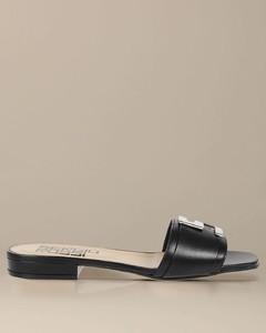Logomaniac sandal in leather
