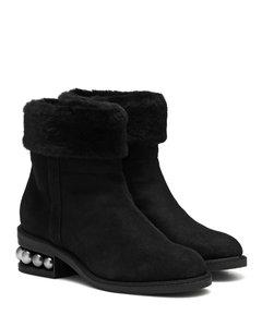 Casati 3.5厘米羊毛皮及踝靴