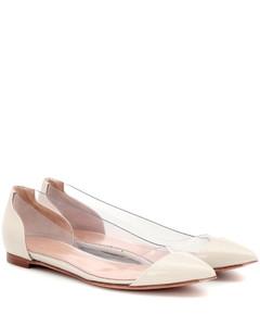Plexi Flat皮革芭蕾舞平底鞋
