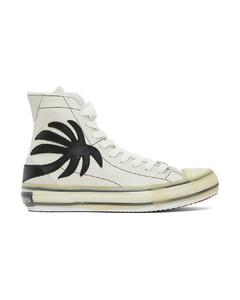 白色Palm硫化高帮运动鞋