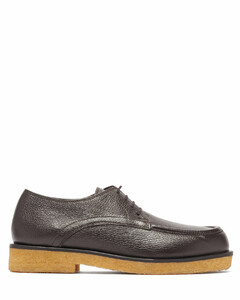 Honore grained-leather derby shoes