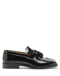 Tabi split-toe tassel leather loafers