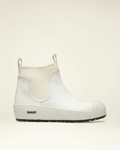 Leather Boots In White