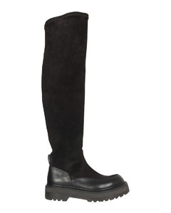 Lilet 75 black leather ankle boots