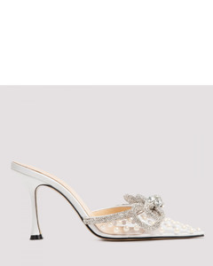 Double Bow Pearl Mules