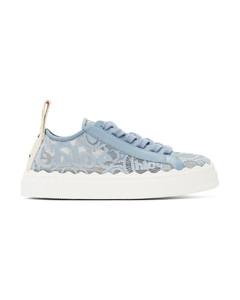 蓝色Lauren运动鞋