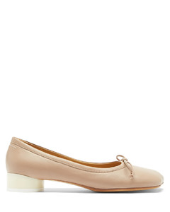 Moulded-toe leather flats
