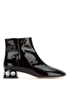 Embellished Heel Ankle Boots
