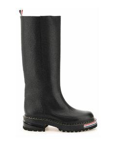 Tubular Knee-High Boots