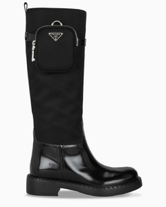 Black boots with mini pouch