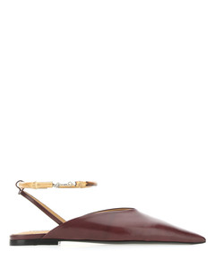 Pointed Toe Slingback Flat Shoes